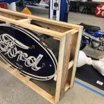 Ford neon sign custom crating